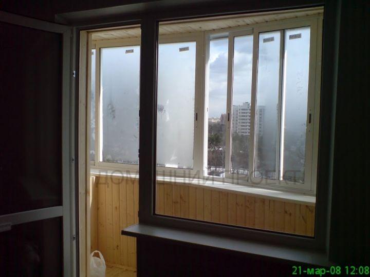 Балконы п-44. работы по остеклению и отделке балконов. наши .