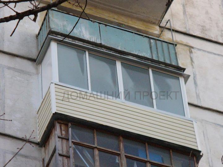 Остекление балкона ii-18 алюминием. балконы ii-18. наши рабо.