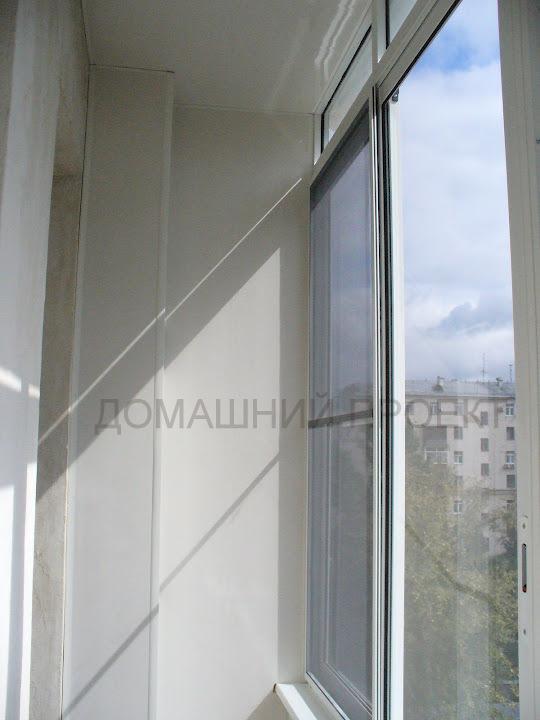 Остекление балкона алюминием в сталинке