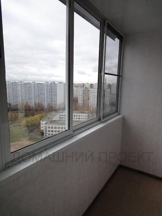 Холодное остекление балкона п-44