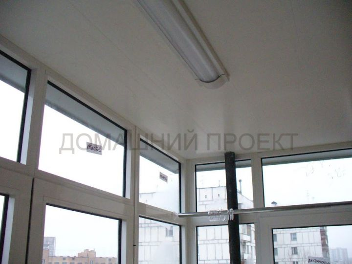 Остекление балкона II-18 алюминиевым профилем