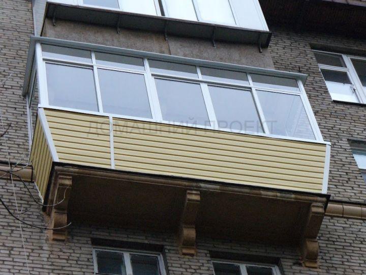 Застекление и отделка балкона в сталинском доме