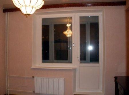 Установка окна с балконной дверью в квартире