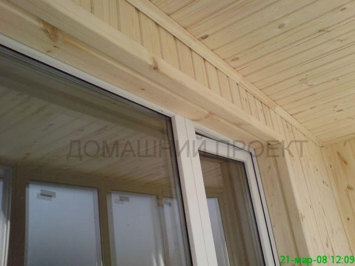Пластиковое остекление балкона п-44