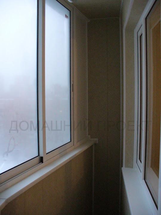 Застекление балкона п-44т