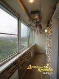 Остекление балкона И-209  с отделкой камнем