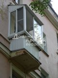 Балкон под ключ с крышей 300616/1
