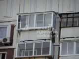 Остекление с выносом и крышей, отделка - Марьино 1