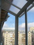 Остекление балкона с прозрачной крышей