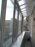 Прозрачная крыша на остекленном балконе