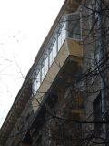Застекление сталинского балкона с крышей