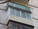 Остекление балкона алюминием