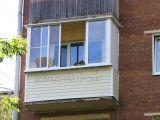 Остекление балкона с внешней отделкой