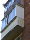Внешняя отделка балкона и остекление