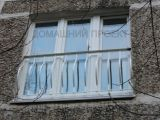 Пластиковые двери французского балкона