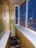 Отделка балкона п44т деревом
