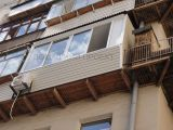 Остекление балкона с внешней обшивкой