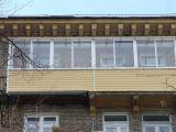 Алюминиевое остекление балкона в сталинке