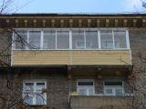 Остекление балкона алюминием в сталинском доме
